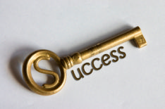 The photo shows a key underlined with the word success, to emphasise a successful job search and recruitment